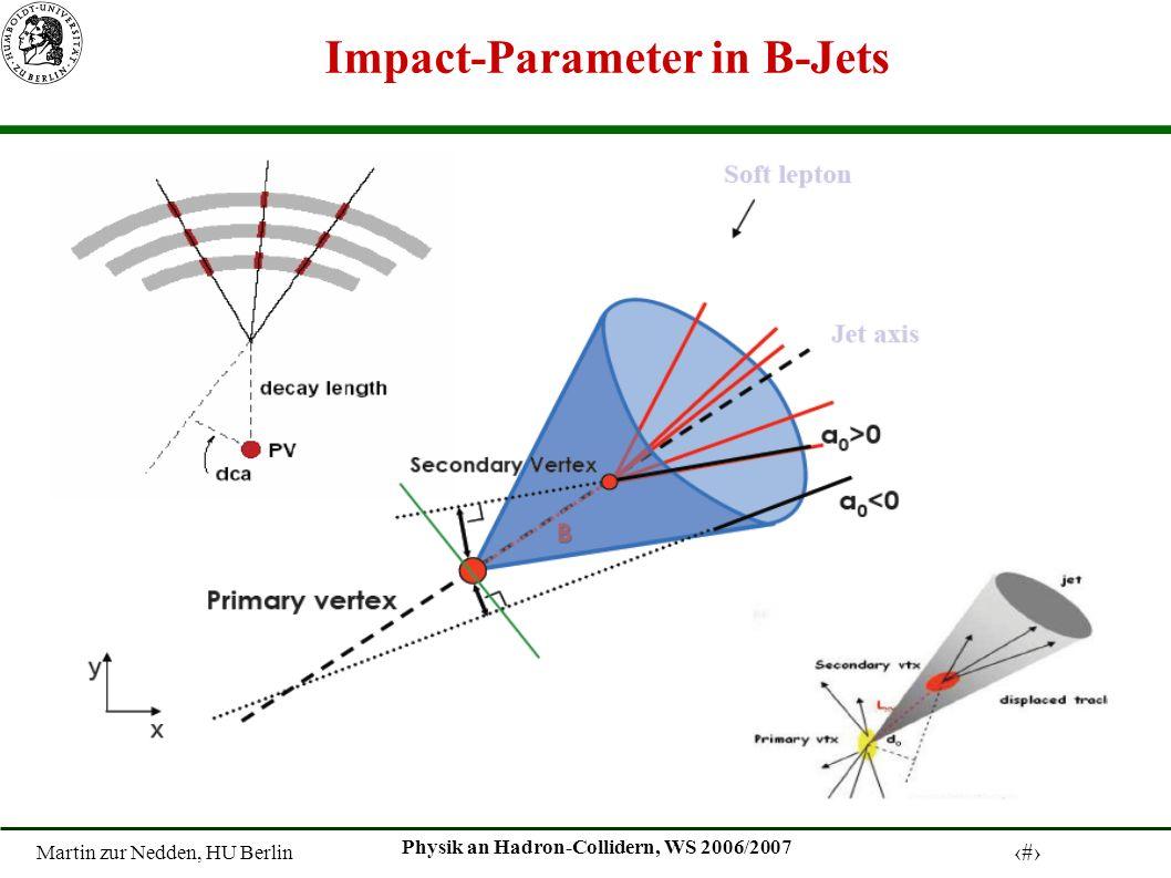 Martin zur Nedden, HU Berlin 6 Physik an Hadron-Collidern, WS 2006/2007 Impact-Parameter in B-Jets