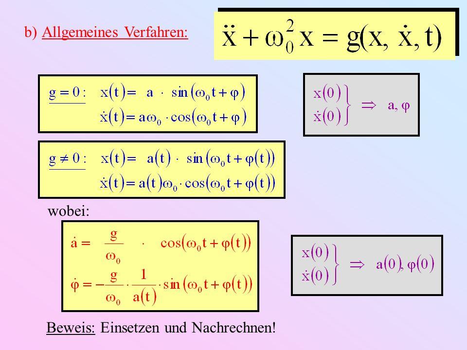 & noch nichts gewonnen (Gesetz der konstanten Mühsal) Folge: Näherung: -Terme in g klein (inklusive γ) a, φ const.