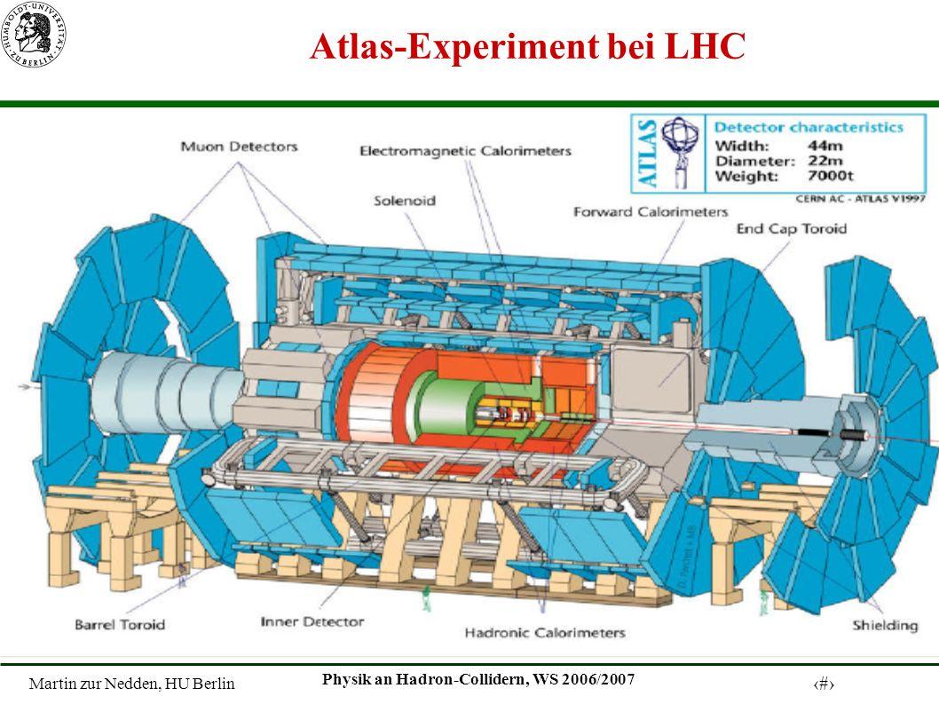 Martin zur Nedden, HU Berlin 21 Physik an Hadron-Collidern, WS 2006/2007 Atlas-Experiment bei LHC