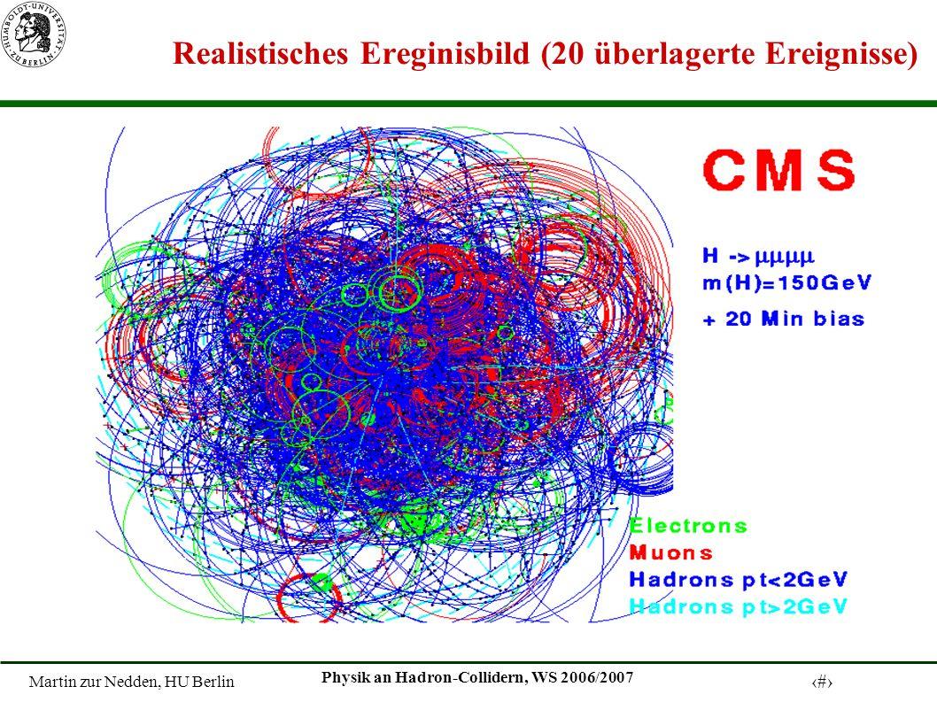 Martin zur Nedden, HU Berlin 31 Physik an Hadron-Collidern, WS 2006/2007 Realistisches Ereginisbild (20 überlagerte Ereignisse)