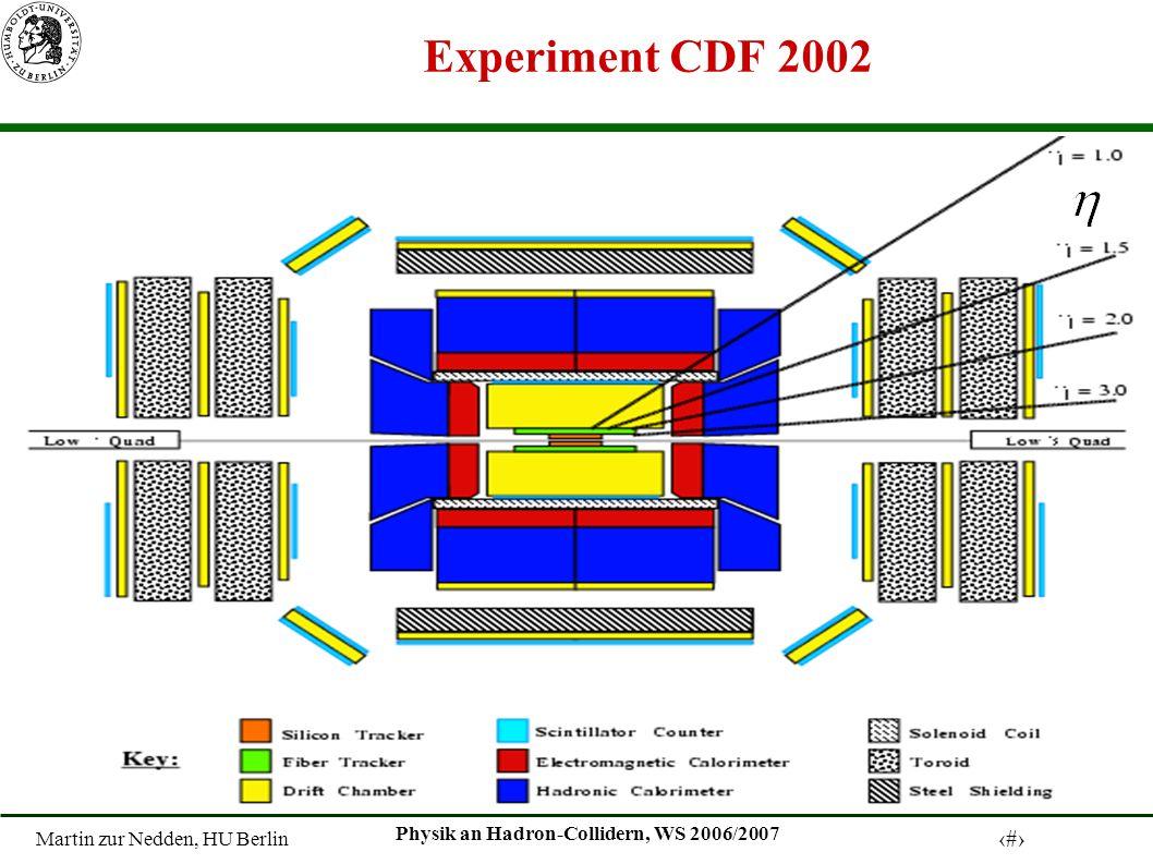 Martin zur Nedden, HU Berlin 4 Physik an Hadron-Collidern, WS 2006/2007 Experiment CDF 2002