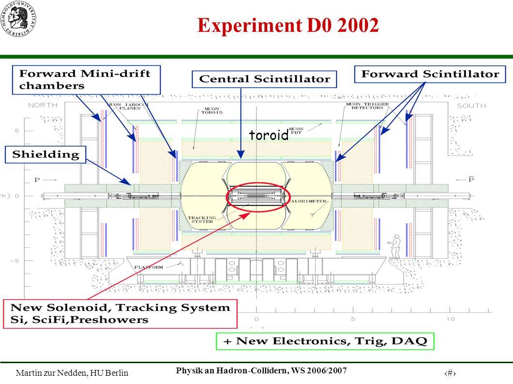 Martin zur Nedden, HU Berlin 6 Physik an Hadron-Collidern, WS 2006/2007 Experiment D0 2002 toroid
