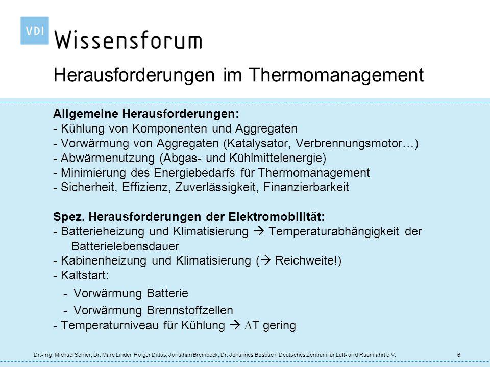 Geschlossenes Thermochemisches System Reaktion von Wasserstoff mit Feststoffen 1/T ln p 1/T Umg 1/T Anw MeH 2 MeH 1 Q Umg Q Anw H2H2 2 2 2 gekoppelte Hydride MeH 1 Wärmespeicher MeH 2 Gastank 1 1 ln p 1 ln p 2 17 Dr.-Ing.