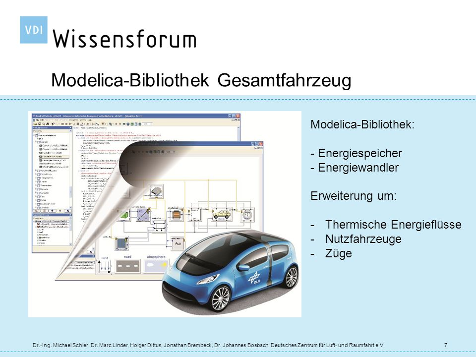 8 Modelica-Bibliothek Thermomanagement Dr.-Ing.Michael Schier, Dr.