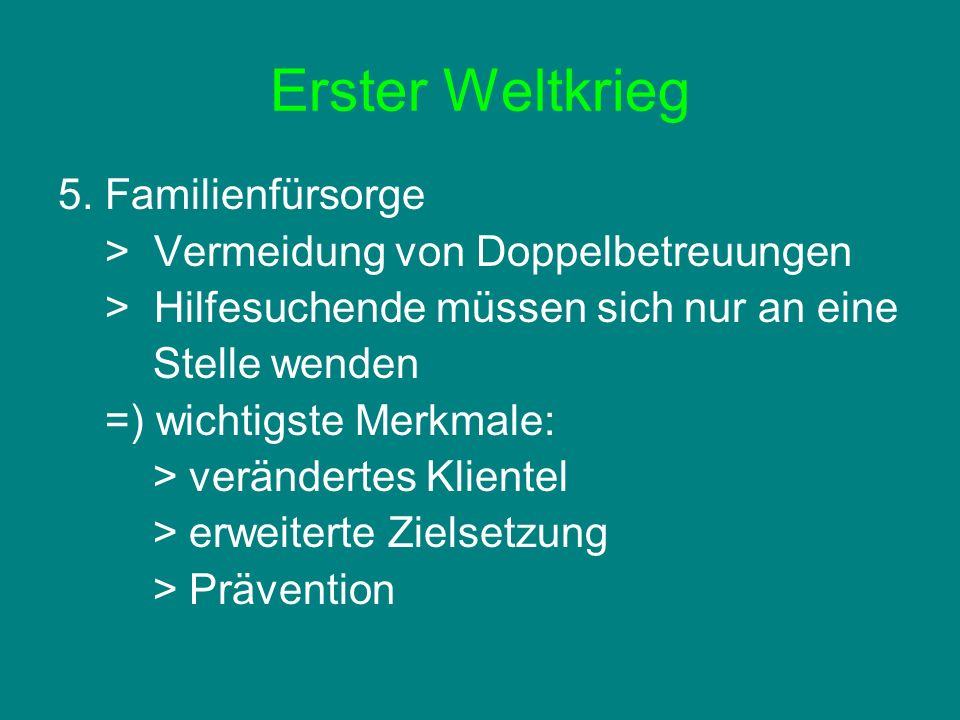 Erster Weltkrieg 5.