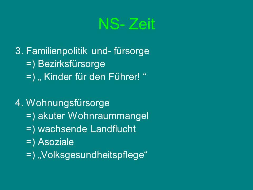 NS- Zeit 3.Familienpolitik und- fürsorge =) Bezirksfürsorge =) Kinder für den Führer.
