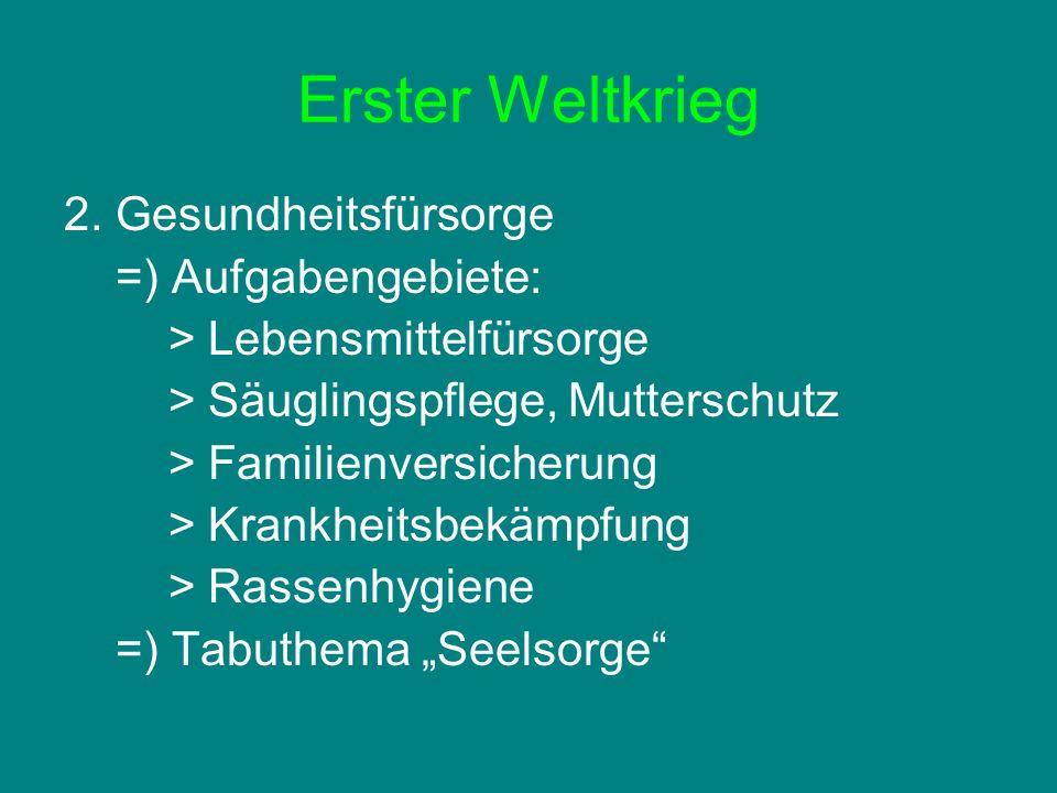 NS- Zeit 1.Betriebsfürsorge =) Arbeit: Frauenamt der Deutschen Arbeitsfront (Feminisierung) 2.