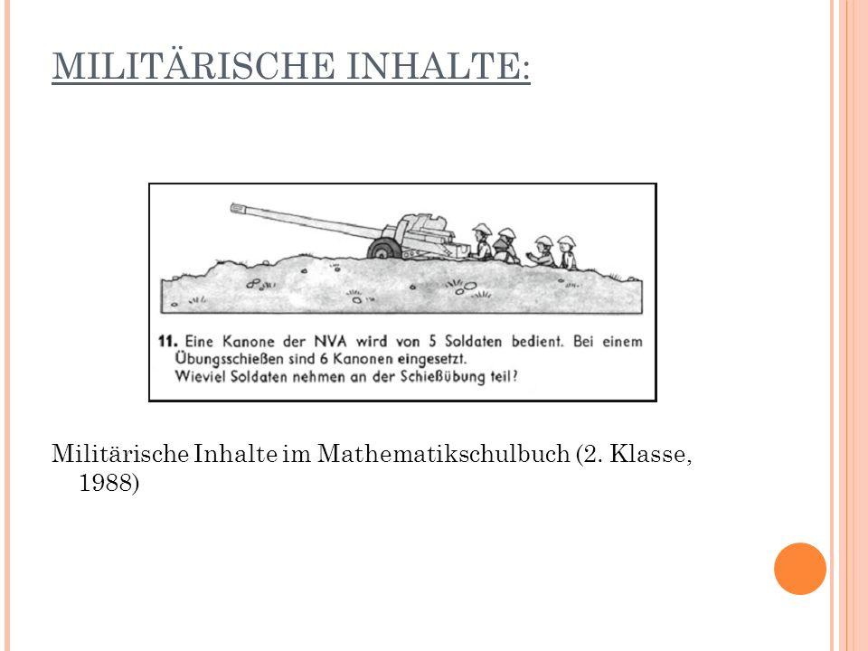 MILITÄRISCHE INHALTE: Militärische Inhalte im Mathematikschulbuch (2. Klasse, 1988)