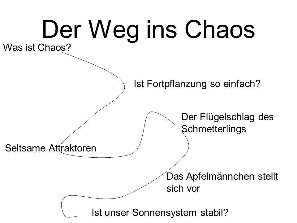 Der Weg ins Chaos Ist Fortpflanzung so einfach.Seltsame Attraktoren Ist unser Sonnensystem stabil.