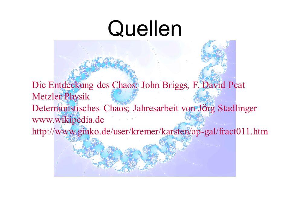 Die Entdeckung des Chaos; John Briggs, F.