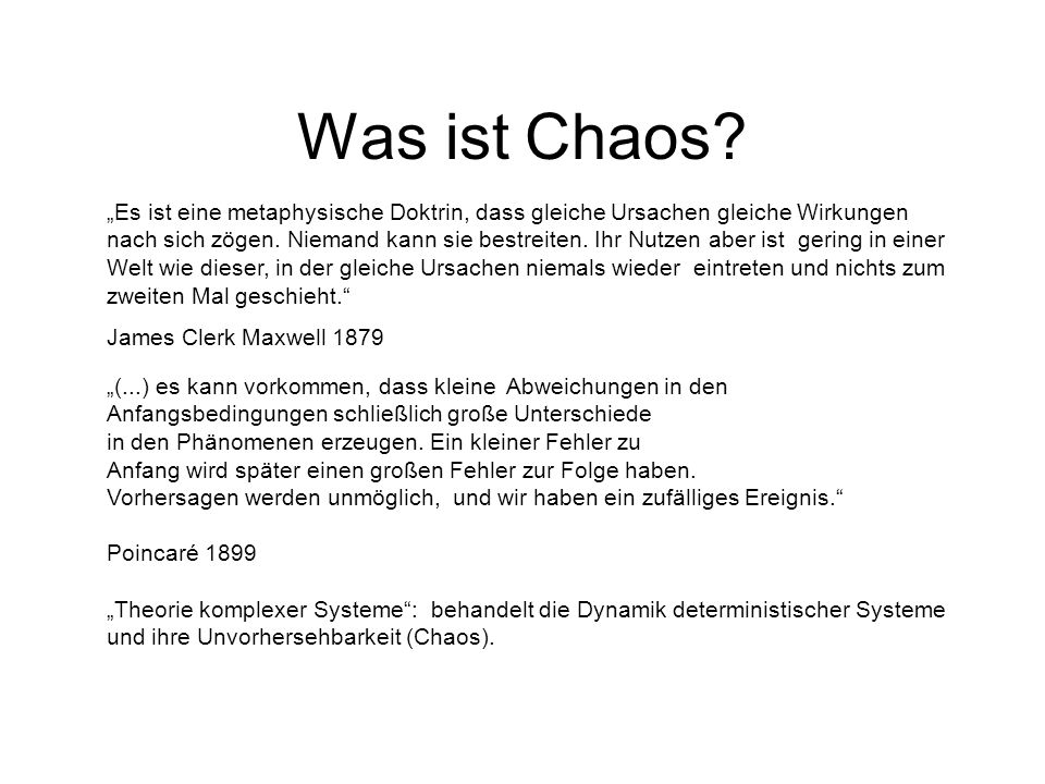 Was ist Chaos.