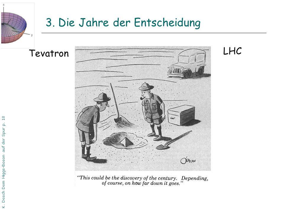 DPG06 Dortmund K. Desch Dem Higgs-Boson auf der Spur p. 18 3. Die Jahre der Entscheidung Tevatron LHC