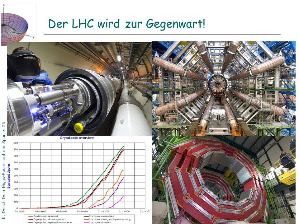 DPG06 Dortmund K. Desch Dem Higgs-Boson auf der Spur p. 26 Der LHC wird zur Gegenwart!