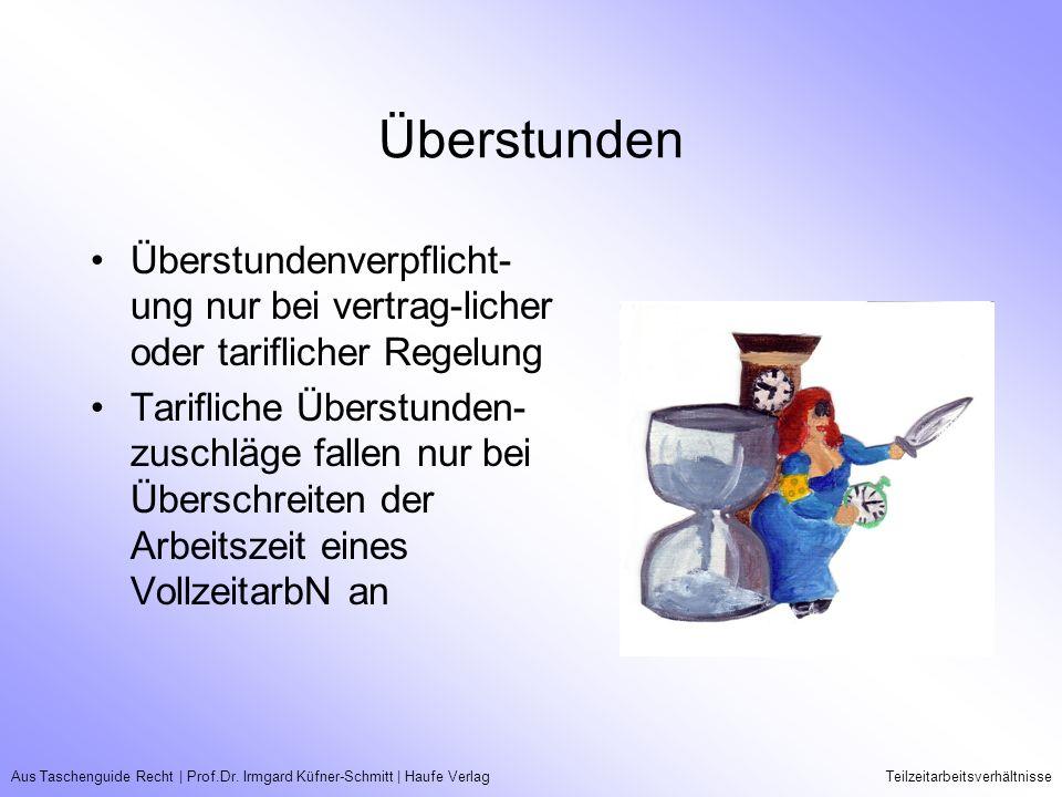 Aus Taschenguide Recht   Prof.Dr. Irmgard Küfner-Schmitt   Haufe VerlagTeilzeitarbeitsverhältnisse Überstunden Überstundenverpflicht- ung nur bei vert