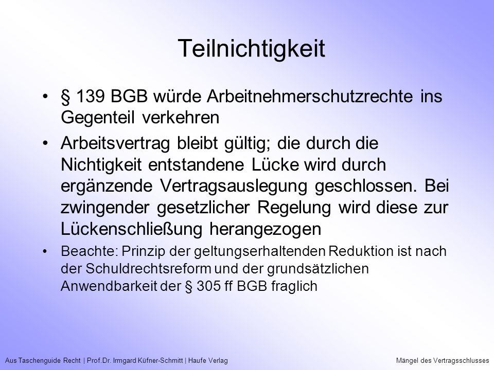Aus Taschenguide Recht | Prof.Dr.