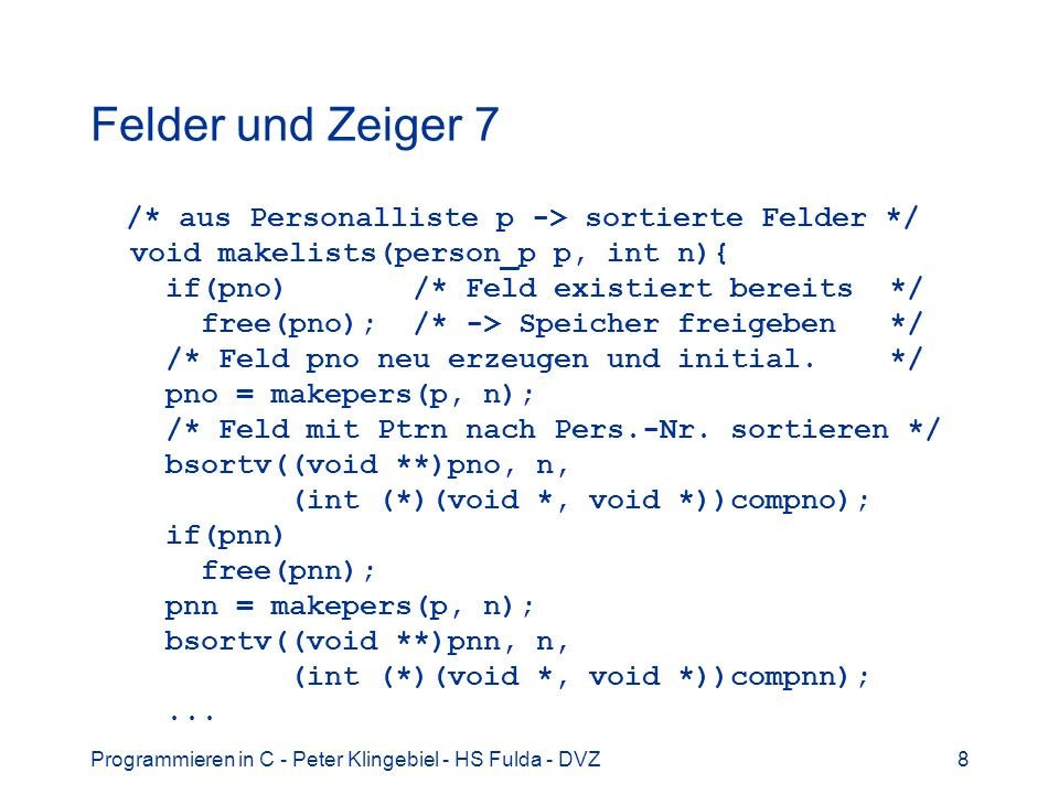Programmieren in C - Peter Klingebiel - HS Fulda - DVZ39 Anwendung Smartmeter 4 Smartmeter: 1 Messung / Sekunde