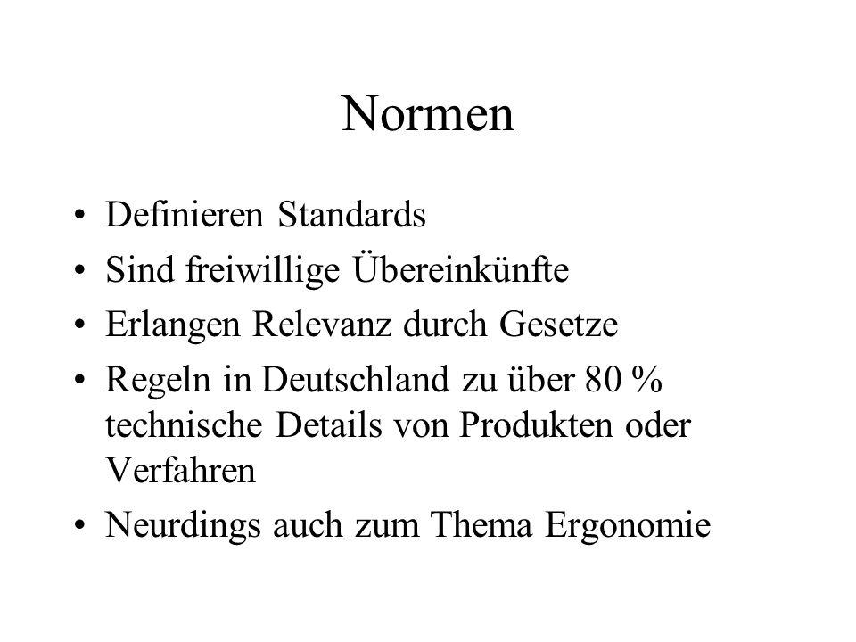 Normen Definieren Standards Sind freiwillige Übereinkünfte Erlangen Relevanz durch Gesetze Regeln in Deutschland zu über 80 % technische Details von P