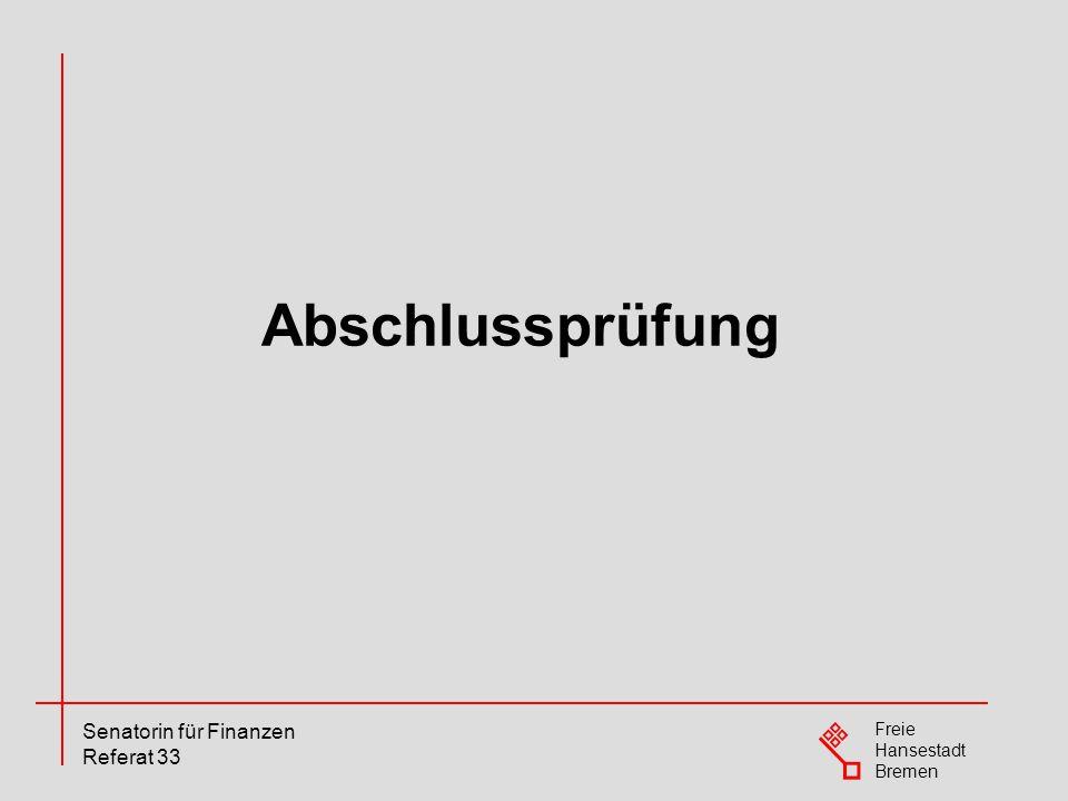 Freie Hansestadt Bremen Senatorin für Finanzen Referat 33 Im Jahr 2010 gibt es zwei Prüflinge, die ihre nicht bestandene Prüfung aus 2009 wiederholen.