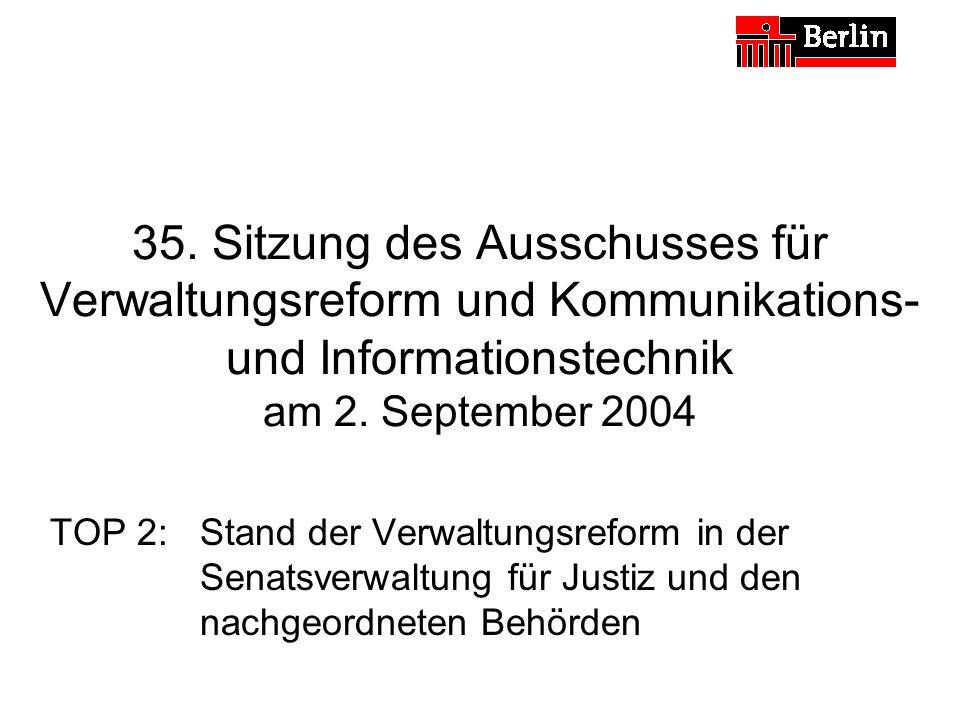 35.Sitzung des Ausschusses für Verwaltungsreform und Kommunikations- und Informationstechnik am 2.