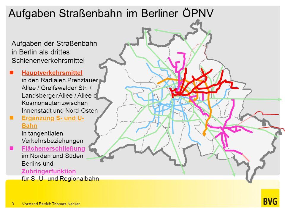 Vorstand Betrieb Thomas Necker 3 Aufgaben Straßenbahn im Berliner ÖPNV
