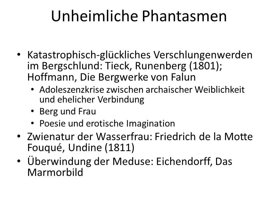 Unheimliche Phantasmen Katastrophisch-glückliches Verschlungenwerden im Bergschlund: Tieck, Runenberg (1801); Hoffmann, Die Bergwerke von Falun Adoles