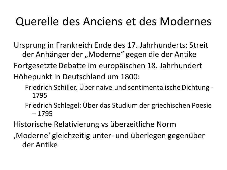 Problem der Moderne: Bildlosigkeit Die Götter Griechenlandes [1788] Da ihr noch die schöne Welt regiertet, An der Freude leichtem Gängelband Glücklichere Menschalter führtet, Schöne Wesen aus dem Fabelland.