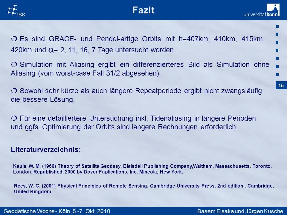 15 Geodätische Woche - Köln, 5.-7. Okt.