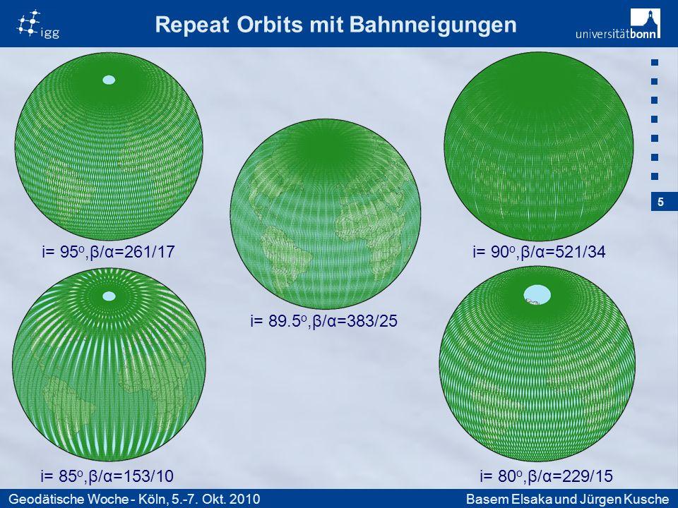16 Geodätische Woche - Köln, 5.-7. Okt. 2010Basem Elsaka und Jürgen Kusche
