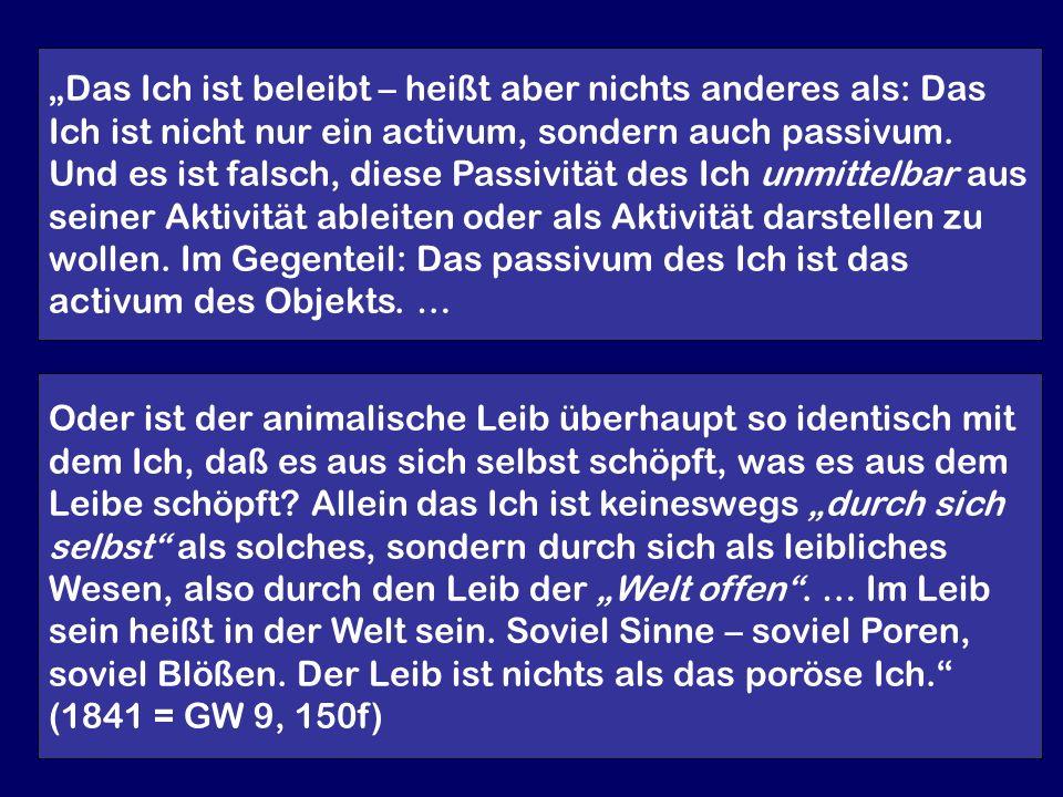 Verwendete Quellen und Monographien: Feuerbach,Ludwig: Gesammelte Werke, hrsg.