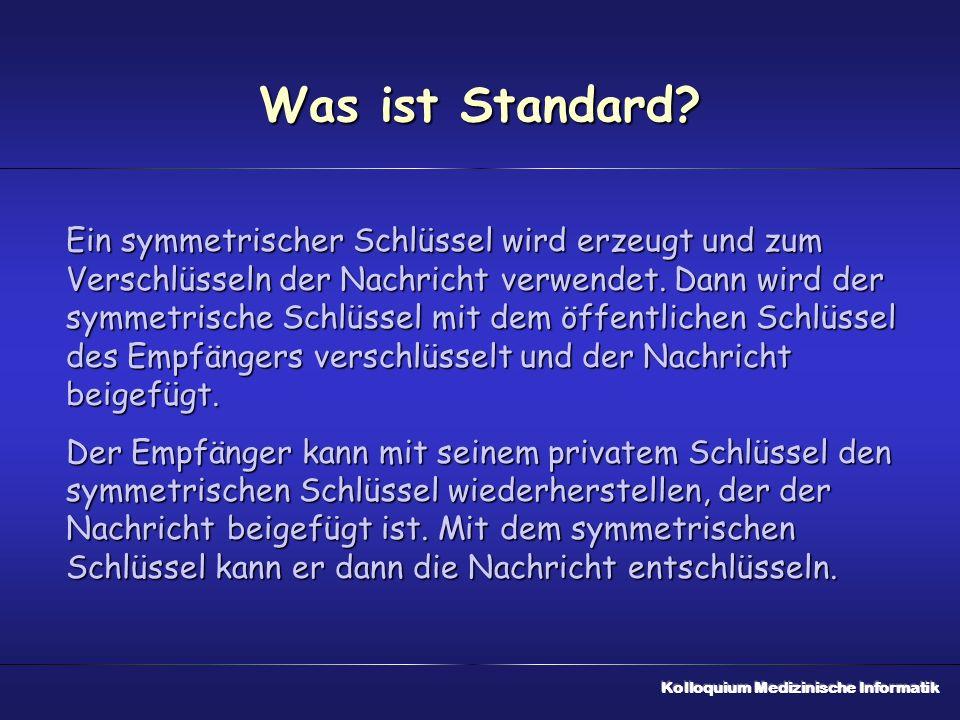 Was ist Standard.
