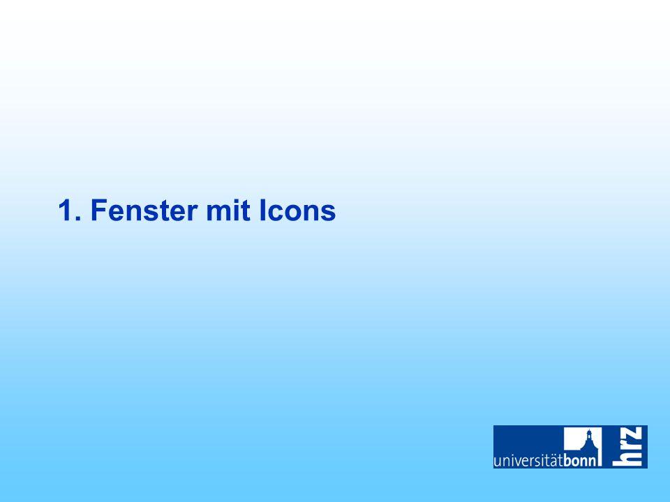 1. Fenster mit Icons
