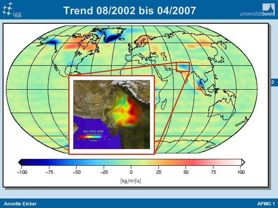 Annette EickerAPMG 1 63 Trend 08/2002 bis 04/2007 [kg/m²/a]