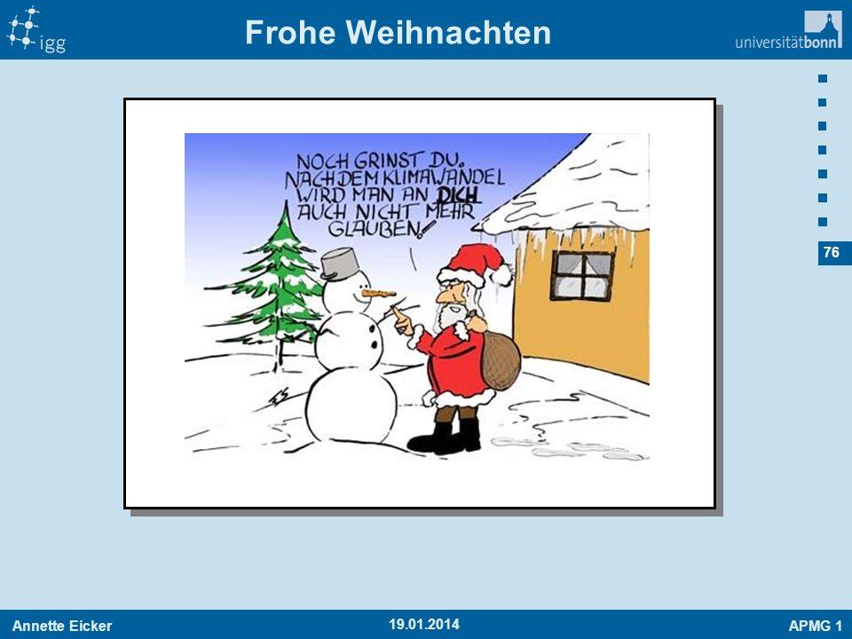 Annette EickerAPMG 1 76 Frohe Weihnachten 19.01.2014