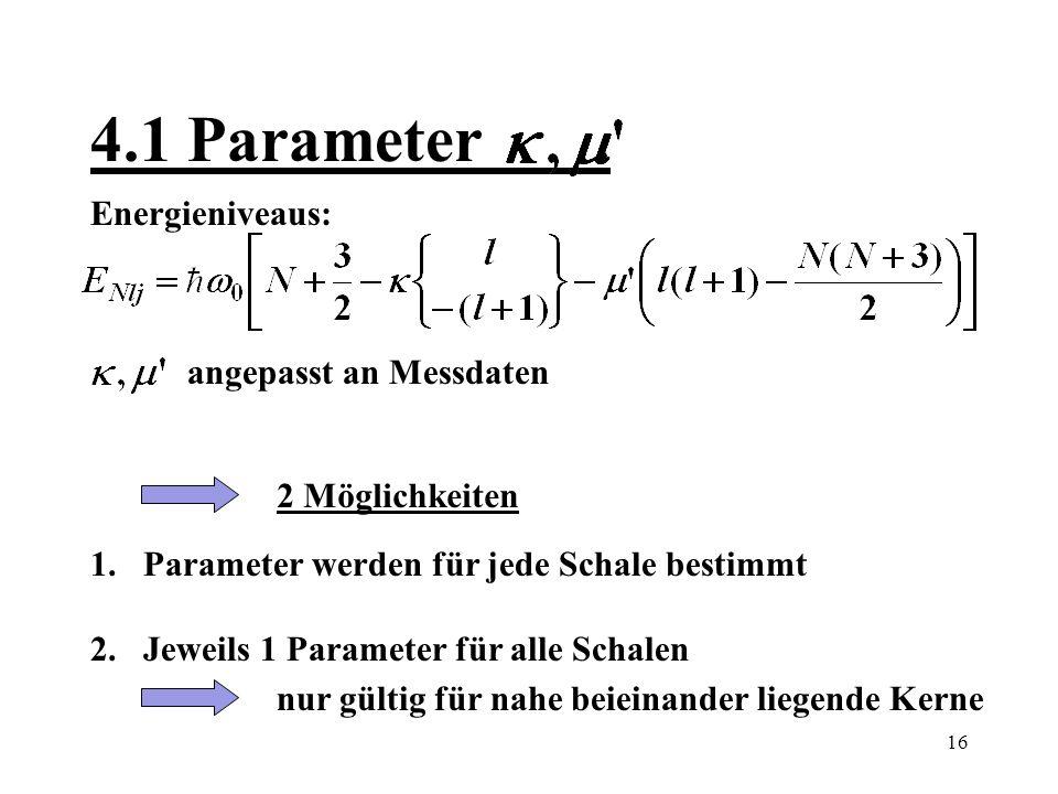 17 4.2 Beispiele Neutronen-Bindungsenergie [MeV] berechnet experimentell