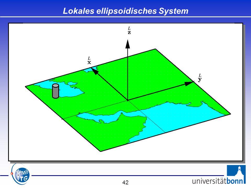 42 Lokales ellipsoidisches System