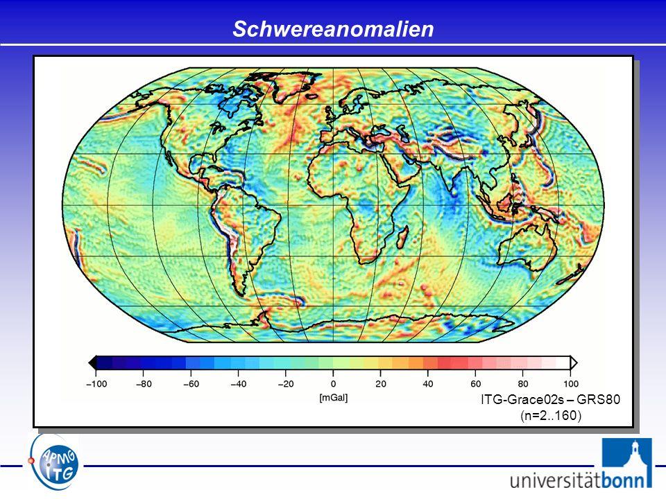 Orthometrische Höhen Orthometrische Höhen: Abstand zum Geoid entlang der Lotlinie Berechnung über geopotentielle Kote: mit dem mittleren Schwerewert entlang der Lotlinie: Definition:
