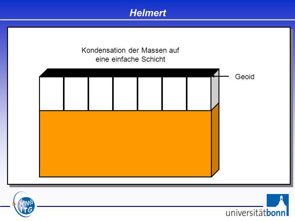 Geoid Helmert Kondensation der Massen auf eine einfache Schicht