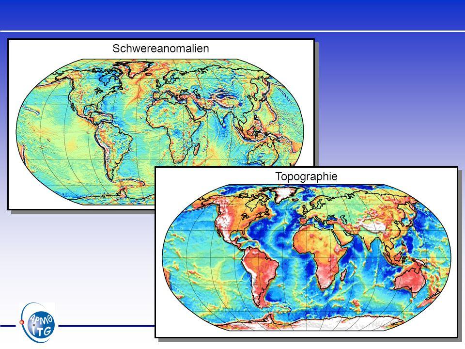 Bestimmung des Geoids Ellipsoid Geoid P Q Potentialanomalie: Störpotential: Geoidundulation: (Formel von Bruns)