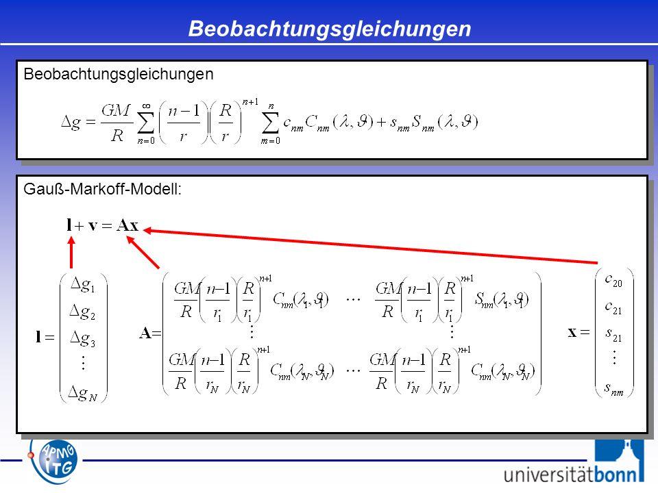 Gauß-Markoff-Modell: Beobachtungsgleichungen
