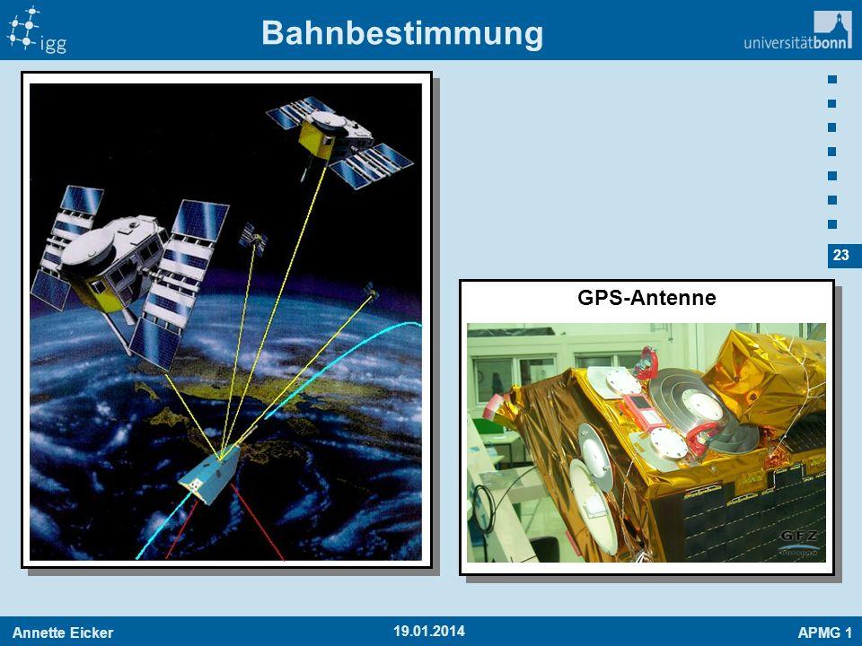 Annette EickerAPMG 1 23 19.01.2014 Bahnbestimmung GPS-Antenne