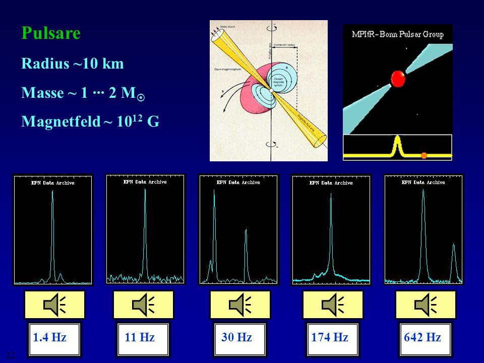 21 Stabilität der Sterne: Fusionsenergie vs. Gravitationsenergie Chandrasekhar-Grenze: nur Sterne mit M < 1.4 M können stabile Zwergsterne werden; Ste