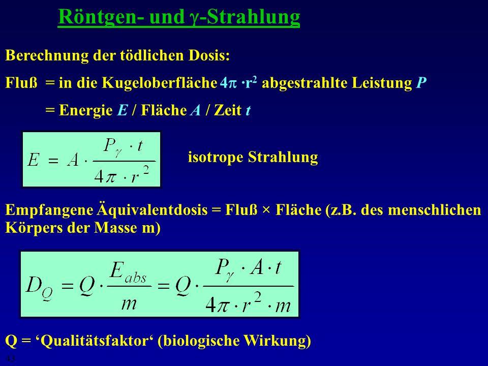 42 Scheinbare und absolute Helligkeit Definition: m = 0.0 für Wega ( Lyr) I 0 3.5 ·10 -8 W m -2 Sirius: m = -1.5 Sonne: m = -26.5 (10 10 mal heller al