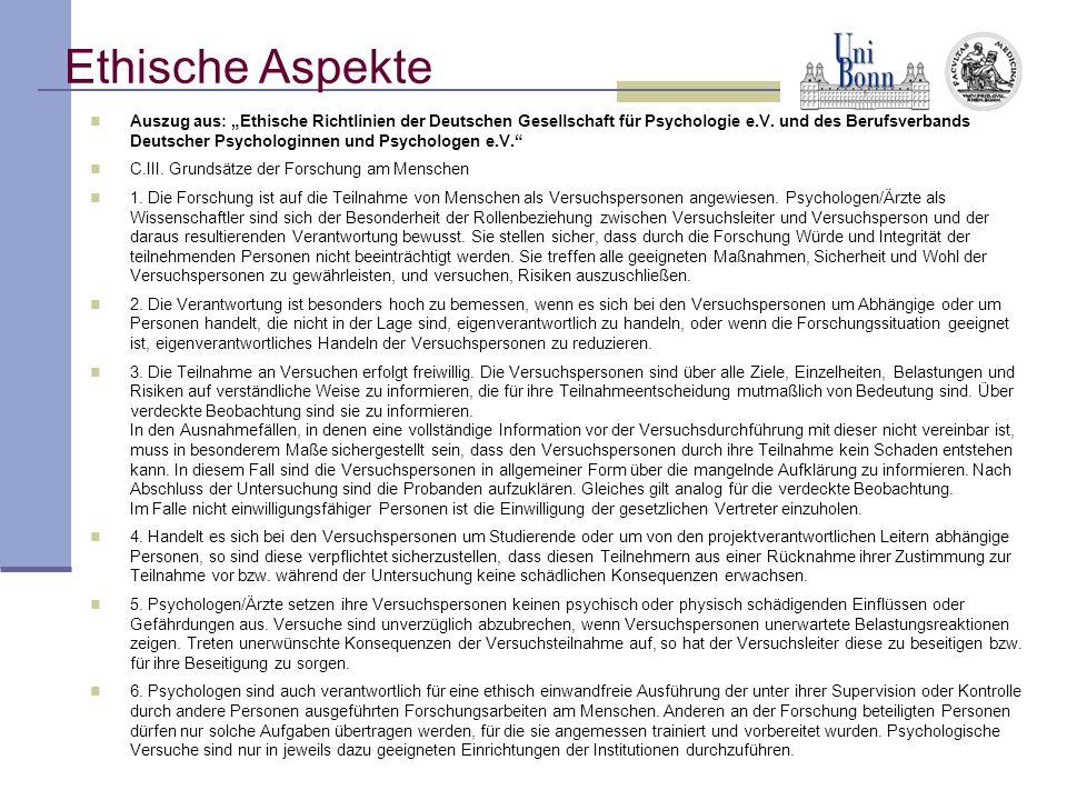 Auszug aus: Ethische Richtlinien der Deutschen Gesellschaft für Psychologie e.V. und des Berufsverbands Deutscher Psychologinnen und Psychologen e.V.