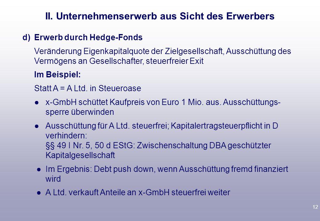 11 bb)jetzt: interner Asset-Deal A gründet zweite y-GmbH.