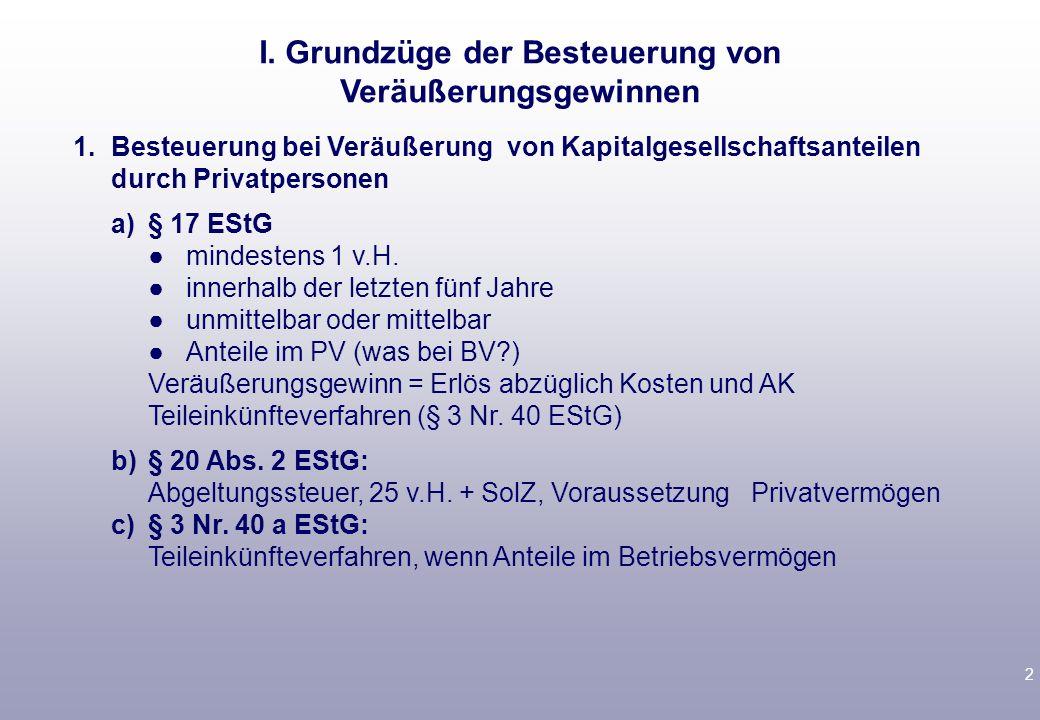 1 Vorlesungsbegleitende Literatur Birk, § 6 D 3a; § 7 B III.