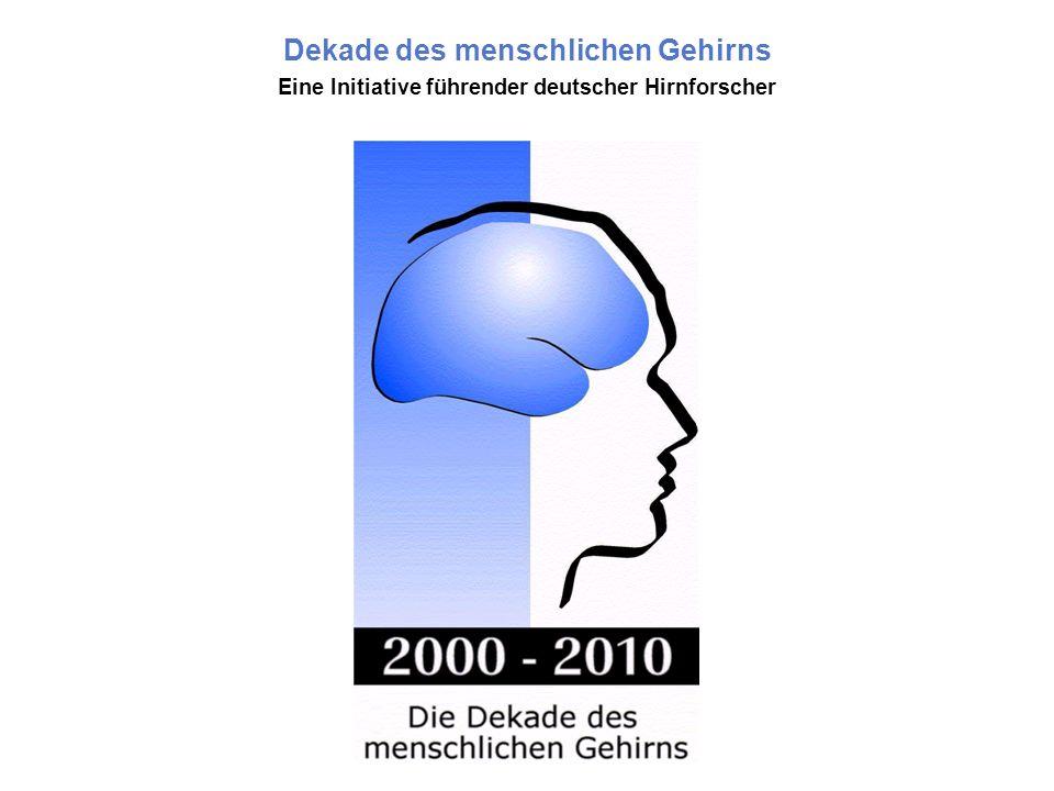 Seite 2 Die Idee Den Anstoß für die deutsche Initiative gab die Decade of the Brain (1990-1999) in den USA.