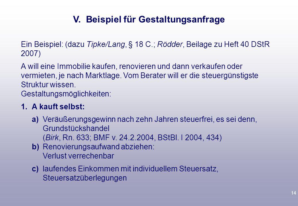 13 2.Mit Wirkung für die Zukunft § 204 AO: Tipke/Lang § 21 Rz.