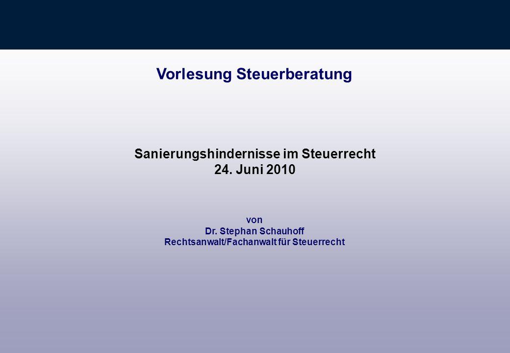 10 3.Folge für Investor Gewinne der O-GmbH müssen sofort versteuert werden Tückisch: Wer trägt Steuerlasten, die durch ao Ertrag auf Grund Forderungsverzichten entstehen.