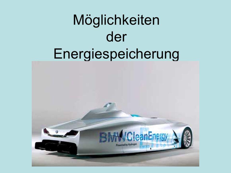 Großkategorien Thermische Speicher (Aquiferspeicher) Brennstoffe (Öl, Biomasse…) Chemische Speicherung (H 2,Batterien…) Mechanische Speicher (Pumpspeicherkraftwerk, Druckluftspeicher, Schwungradspeicher)