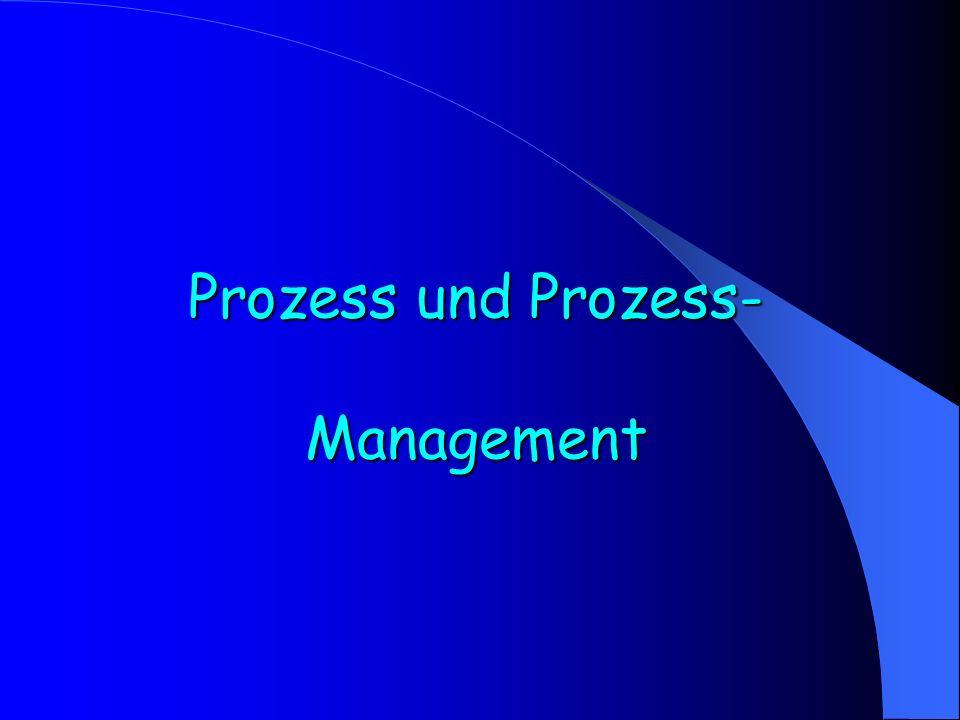 Prozess und Prozess- Management